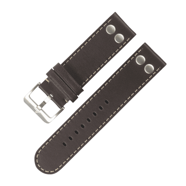 Pilot strap darkbrown 22 mm