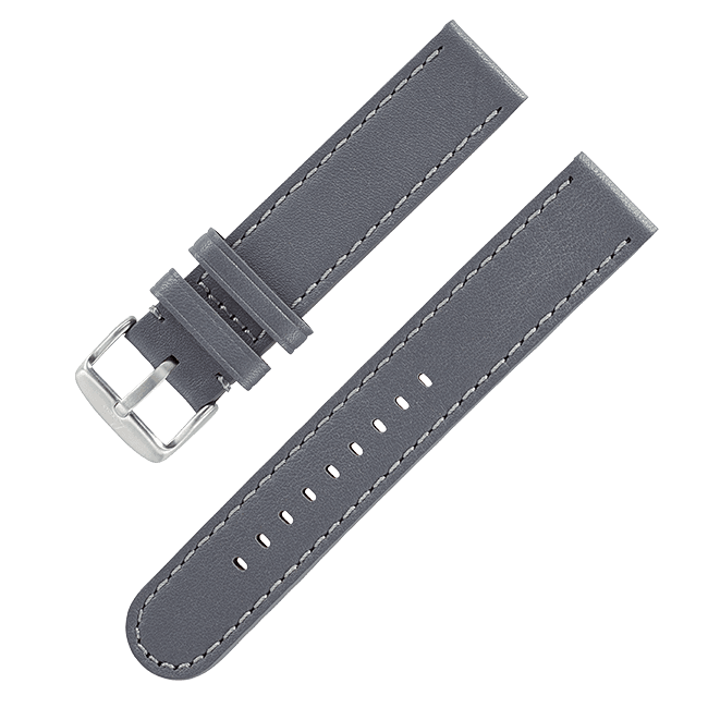 "Leather strap ""Black Automatik"""