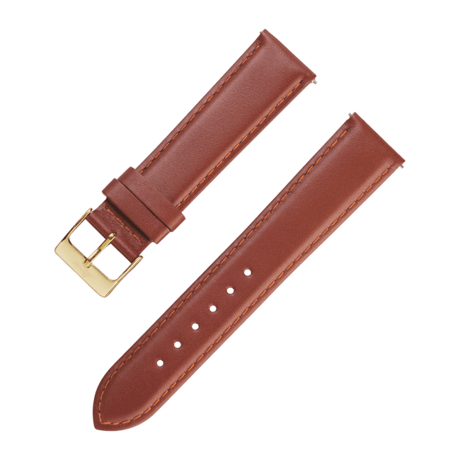Leatherstrap brown 18 mm
